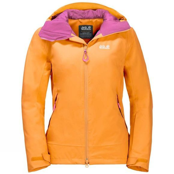 Jack Wolfskin Womens ExoLight Peak Jacket Citrine Yellow