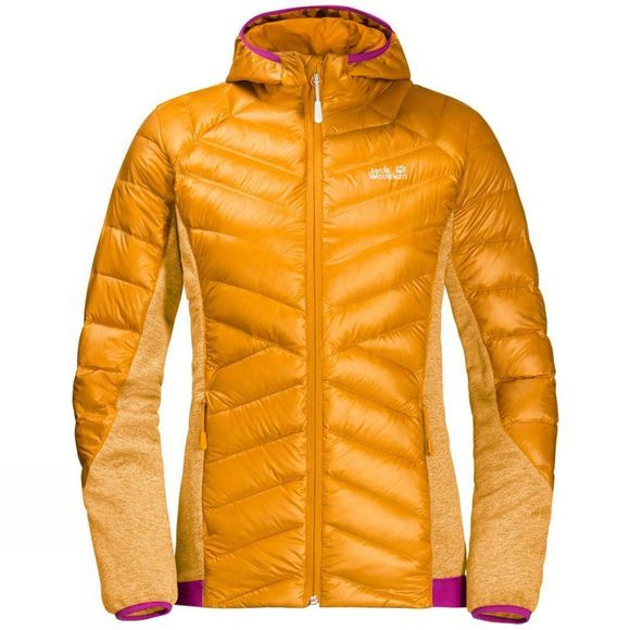 Jack Wolfskin Womens Stratosphere Jacket Citrine Yellow