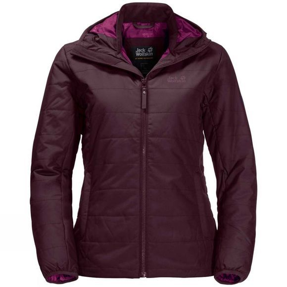Jack Wolfskin Womens Maryland Jacket Burgundy