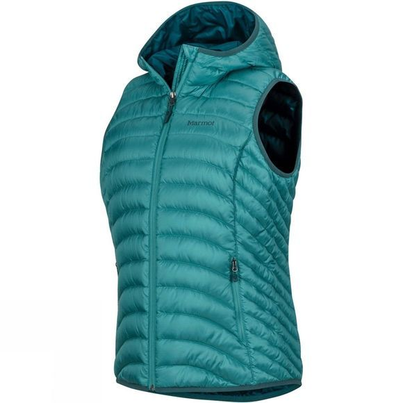 Marmot Womens Bronco Hooded Vest Patina Green