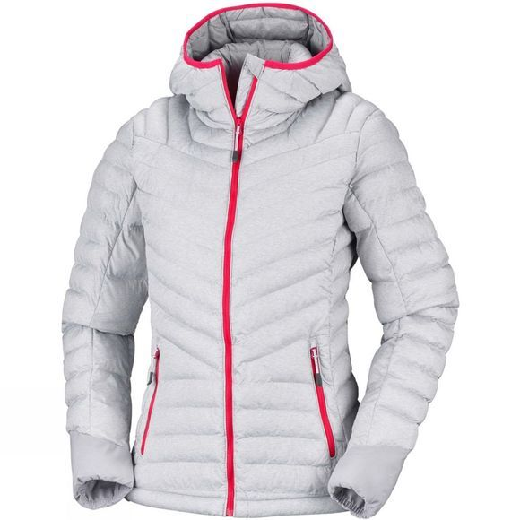 Columbia Womens Windgates Hooded Jacket Astral Heather