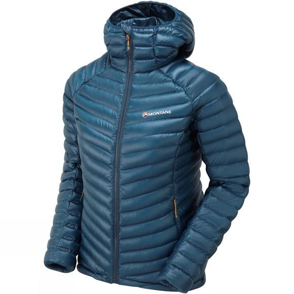 Montane Womens Future Lite Hoodie Narwhal Blue/Inca Gold