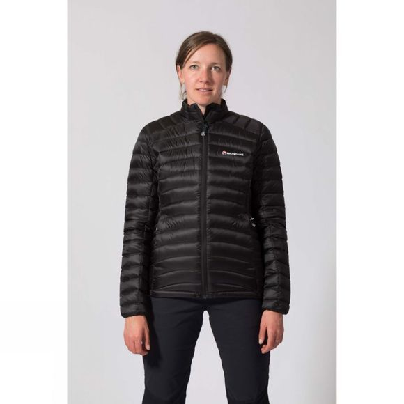 Montane Women's Featherlite Down Micro Jacket Black/Zanskar Blue