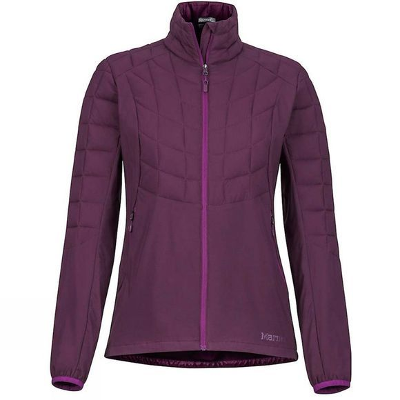 Marmot Womens Featherless Hybrid Jacket Dark Purple