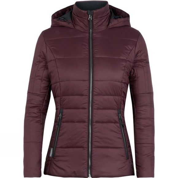Icebreaker Womens Stratus X Hooded Jacket Velvet/Jet Heather