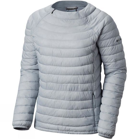 Columbia Womens Powder Pass Pullover Cirrus Grey