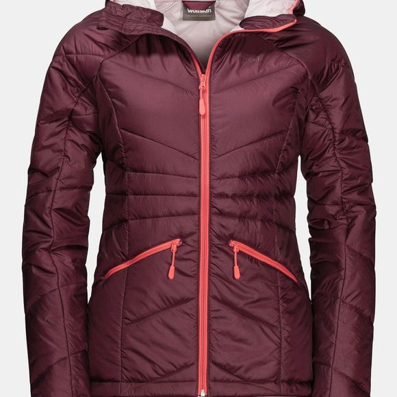 Jack Wolfskin Womens Argon Insulated Hoody Fall Red