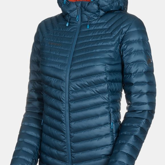 Mammut Womens Convey Insulated Hooded Jacket Wing Teal-Pepper