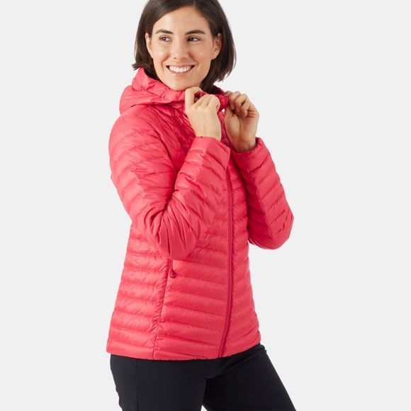 Mammut Womens Convey Insulated Hooded Jacket Dragon Fruit-Scooter