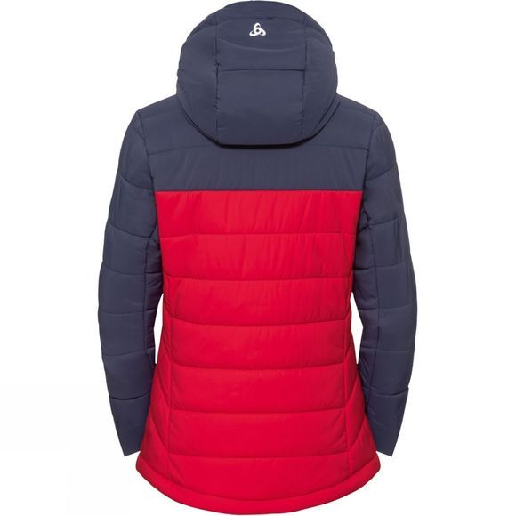 Odlo Womens Cocoon Nordic Fan Jacket Diving Navy - Formula One
