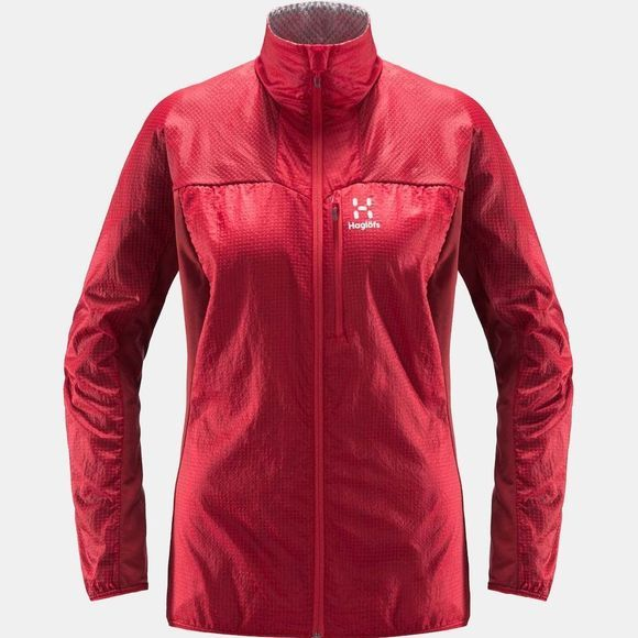 Haglofs Womens Summit Hybrid Jacket Hibiscus red/brick red
