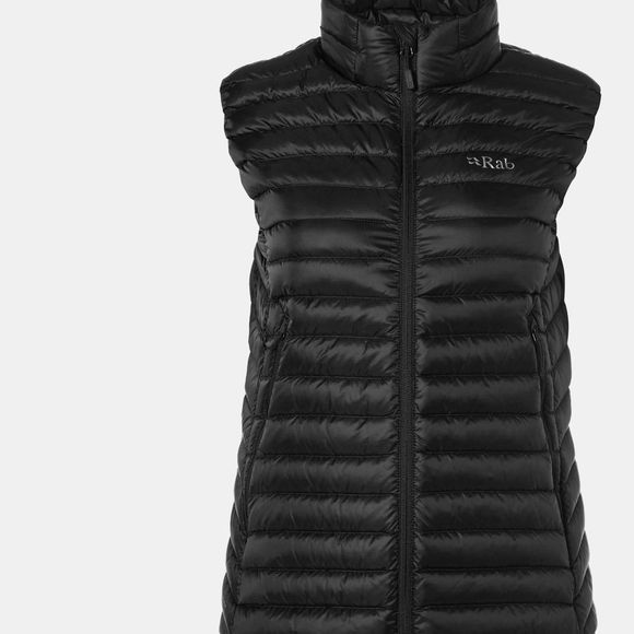 Rab Womens Microlight Vest Black / Seaglass
