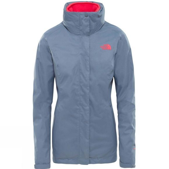 The North Face Womens Evolve II Triclimate Jacket Grisaille Grey/Atomic Pink