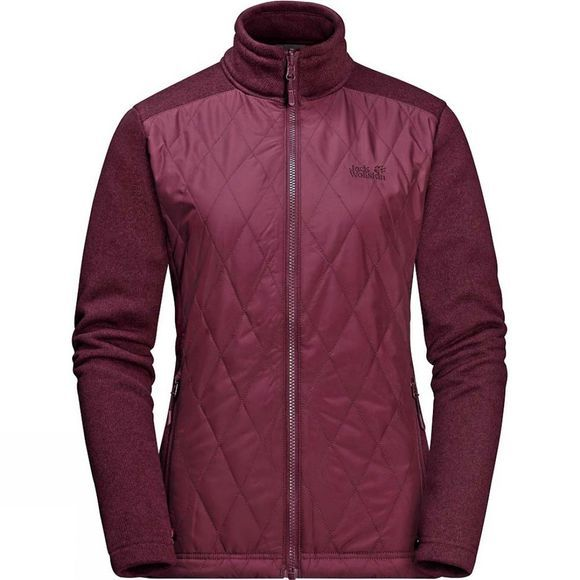 Jack Wolfskin Womens Echo Pass 3in1 Jacket Garnet Red