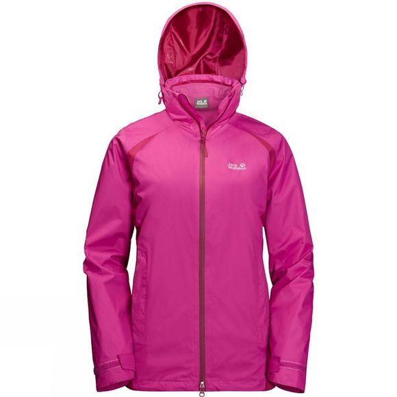 Jack Wolfskin Womens Hopewell Rocks 3in1 Jacket Fuchsia