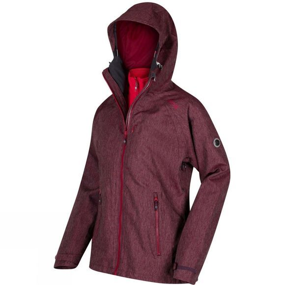 Regatta Womens Louisiana III 3-in-1 Jacket Fig(Lollipo)