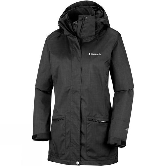 Columbia Womens Out In The Cold Interchange Jacket Black