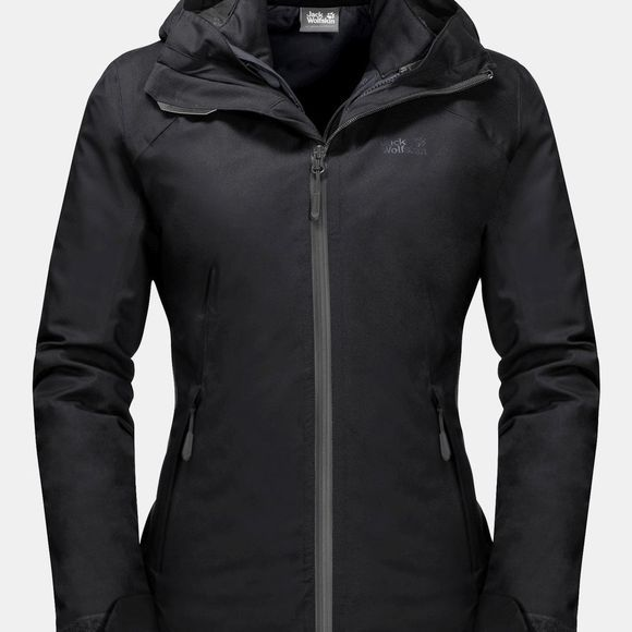 Jack Wolfskin Womens Aurora Sky 3In1 Jacket Black