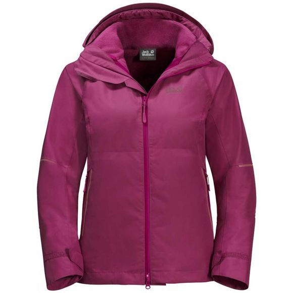 Jack Wolfskin Womens Skei Trail 3In1 Jacket Amethyst