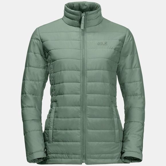 Jack Wolfskin Womens Monterey Bay Coat Greenish Grey