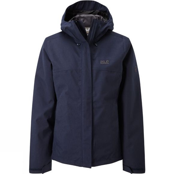 Jack Wolfskin Womens Glencoe Sky ll Jacket Midnight Blue