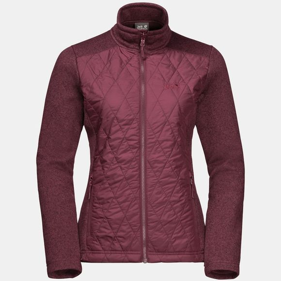 Jack Wolfskin Womens Echo Pass 3-in-1 Jacket Fall Red