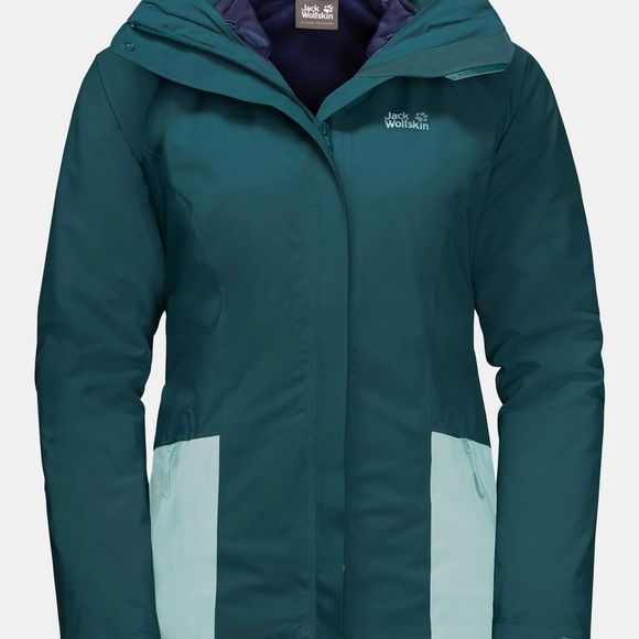 Jack Wolfskin Womens Kiruna 3-in-1 Jacket Dark Jade