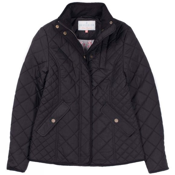 Brakeburn Womens Classic Quilted Jacket Black