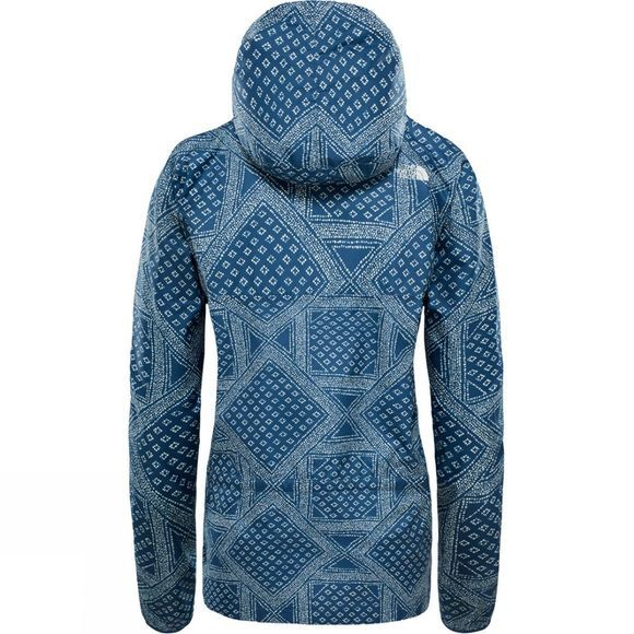 The North Face Fanorak Pullover Jacket Blue Wing Teal Bandana Print