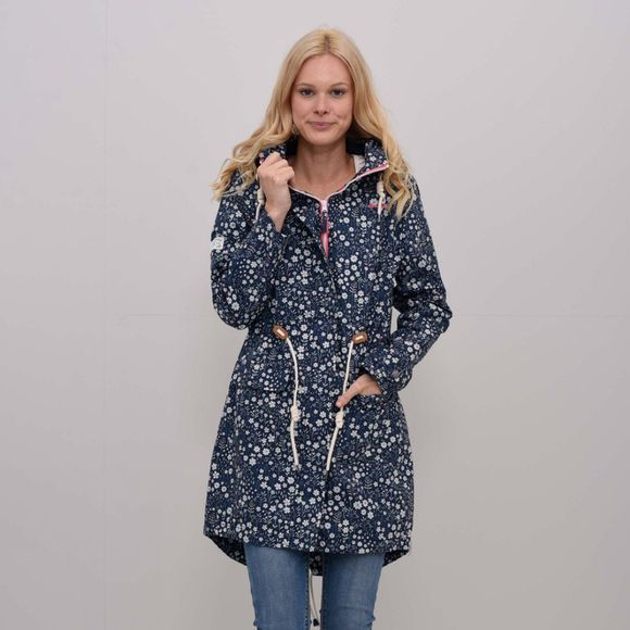Womens Ditsy Flower Printed Parka