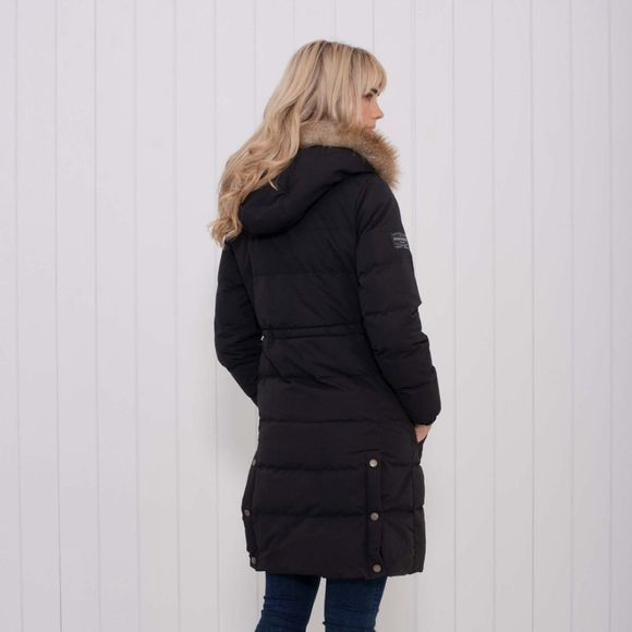 Brakeburn Womens Long Insulated Coat Black