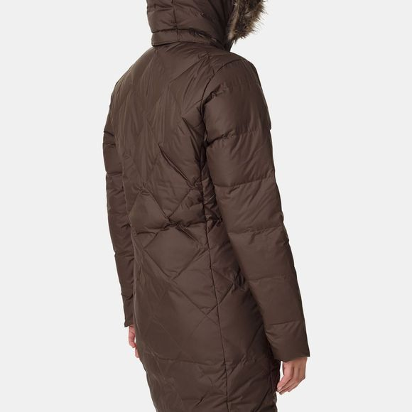 Columbia Womens Icy Heights II Mid Length Down Jacket Olive Green/Black