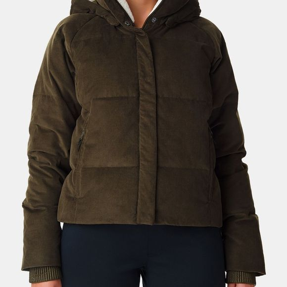Columbia Womens Ruby Falls Down Jacket Olive Green Corduroy