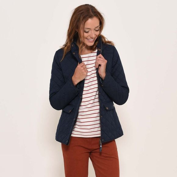Brakeburn Womens Classic Quilted Jacket Navy