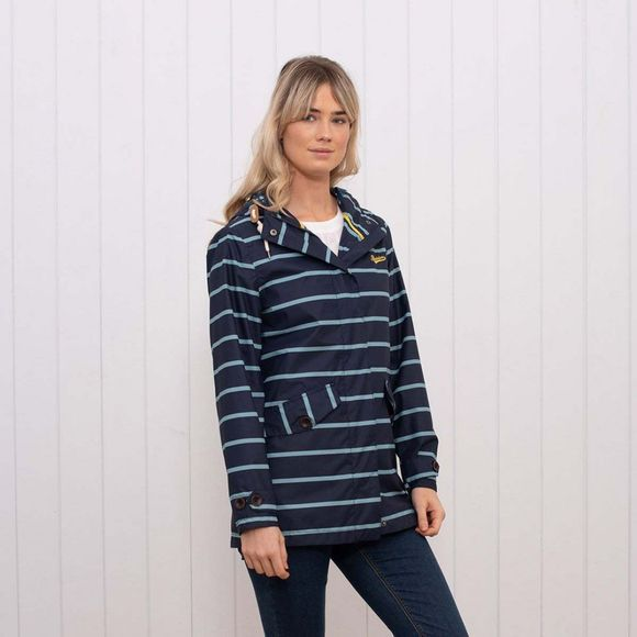 Brakeburn Women's Stripe Jacket Navy