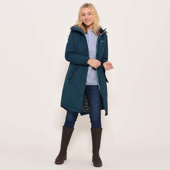 Brakeburn Long insulated parka Teal
