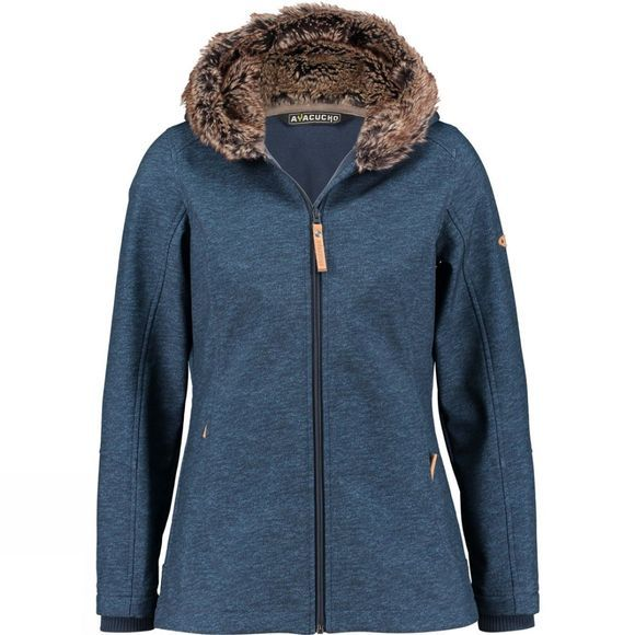 Ayacucho Womens Husky Jacket Blue Denim Print