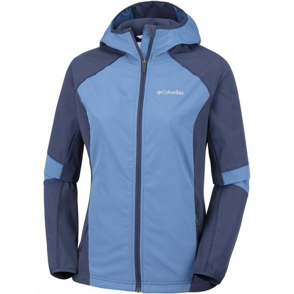 Columbia Womens Sweet As Softshell Hoodie Blue Dusk, Nocturnal