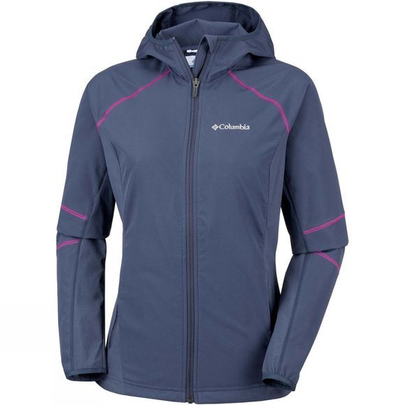 Columbia Womens Sweet As Softshell Hoodie Nocturnal