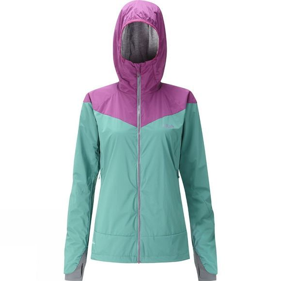 Rab Womens Rampage Jacket Dark Jade/Berry