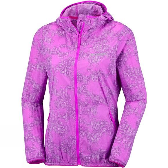 Columbia Womens Addison Park Windbreaker Jacket Groovy Pink Gradient Print