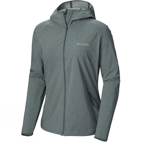 Columbia Womens Heather Canyon Softshell Jacket Pond Heather