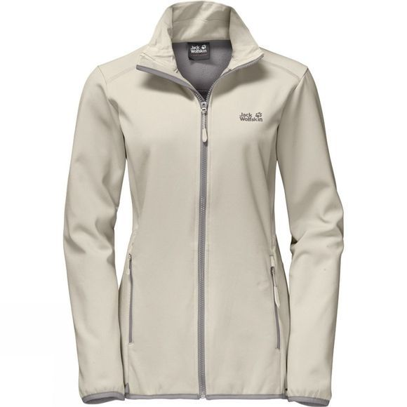 Jack Wolfskin Womens Essential Altis Softshell Jacket White Sand