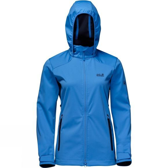Jack Wolfskin Womens Cusco Valley Softshell Jacket Wave Blue