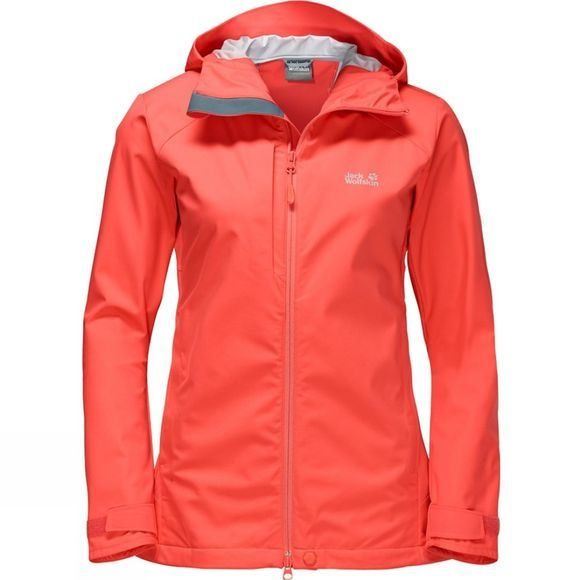 Jack Wolfskin Womens Gravity Flex Softshell Jacket Hot Coral