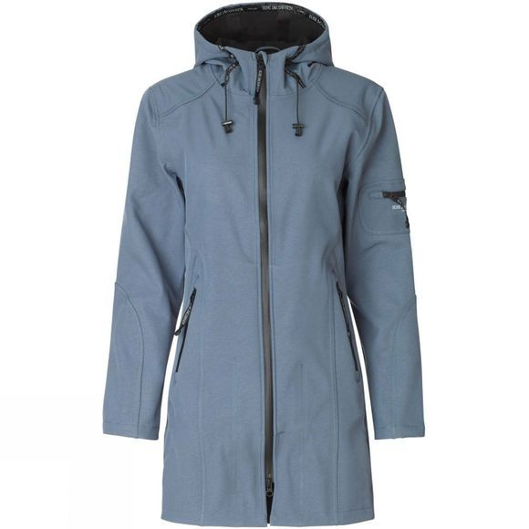 Ilse Jacobsen Womens Rain07 3/4 Rain Coat Blue Grayness