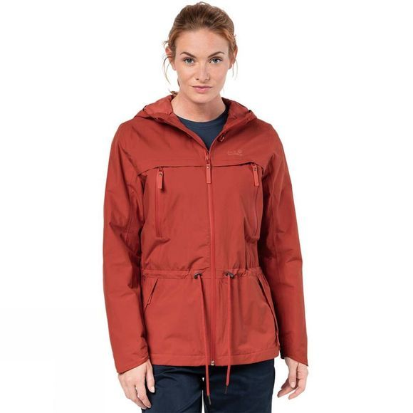 Jack Wolfskin Womens Fairview Jacket Volcano Red