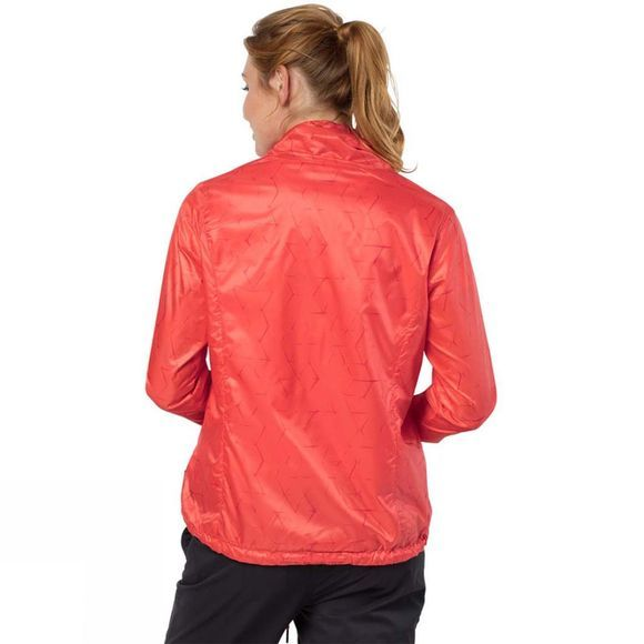 Jack Wolfskin Womens Shibori Jacket Hot Coral All Over