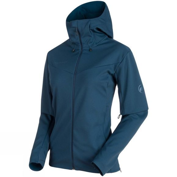 Mammut Womens Ultimate V SO Hooded Jacket Jay/Jay Melange