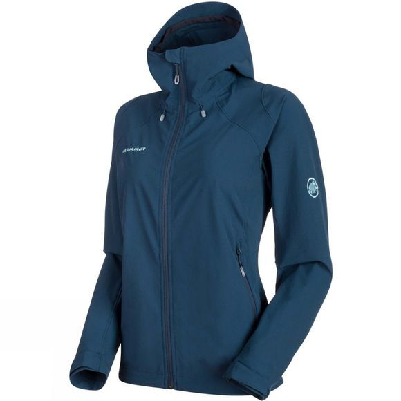 Mammut Womens Runbold Trail SO Hooded Jacket Jay